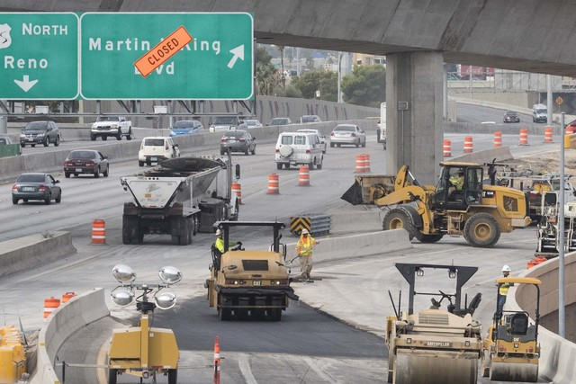 The Martin Luther King Boulevard exit off of Interstate 15 south is closed for construction on Thursday, Oct. 27, 2016, in Las Vegas. (Loren Townsley/Las Vegas Review-Journal Follow @lorentownsley)