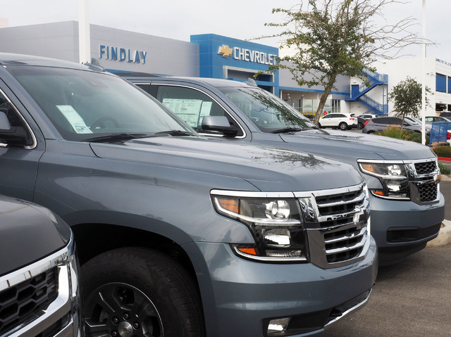 New Chevrolet SUVs Are Seen At Findlay Chevrolet In Southwest Las Vegas,  Thursday, Oct