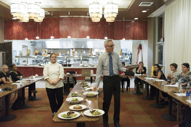 Timothy S. Harlan, executive director with the Goldring Center for Culinary Medicine at Tulane University, right, and Kerri Dotson, chef and registered dietitian with the Goldring Center for Culin ...