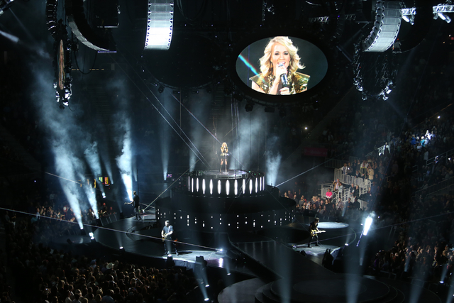 Carrie Underwood performs at T-Mobile Arena in Las Vegas on Saturday, Nov. 26, 2016, as part of The Storyteller Tour. (K.M. Cannon/Las Vegas Review-Journal) Follow @KMCannonPhoto