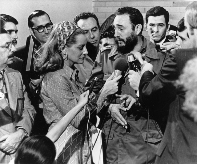 Cuban Prime Minister Fidel Castro responds to a question from American NBC reporter Barbara Walters during a news conference granted to members of the U.S. press covering Senator George McGovern's ...