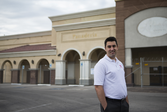 Ignacio Prado, founder of Futuro Academy, poses for a photo at the site of the proposed charter school at Lamb Boulevard and Washington Avenue in Las Vegas on Friday, Oct. 28, 2016. (Chase Stevens ...