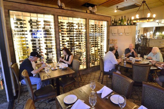 Part of the interior of Chef Marc's Trattoria is shown at 8615 W. Sahara Ave. in Las Vegas on Saturday, Oct. 29, 2016. Bill Hughes/Las Vegas Review-Journal