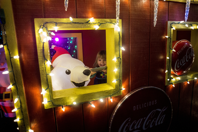 Georgia Scarlett, 2, plays in the Magical Forest at Opportunity Village, Friday, Nov. 25, 2016, Las Vegas. (Elizabeth Page Brumley/Las Vegas Review-Journal) Follow @ELIPAGEPHOTO