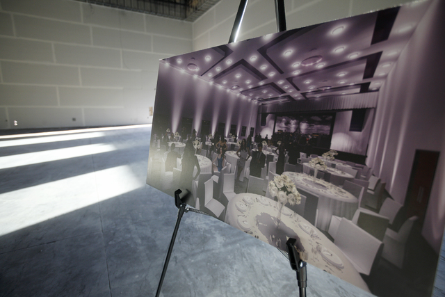 The Madrigal room and a rendering of the future space is seen on Wednesday, Nov. 16, 2016, at Enclave, a multi-purpose event center in Las Vegas. Rachel Aston/Las Vegas Review-Journal Follow @rook ...