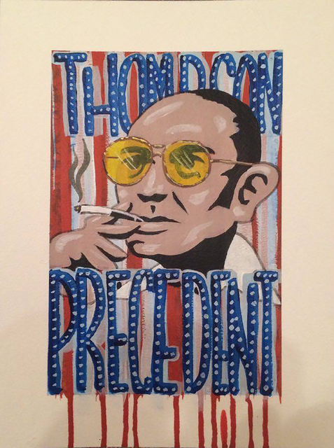 """Hunter S. Thompson's run for """"Precedent"""" was part of the yearlong """"Dishing It Out 2016"""" series of exhibits and events satirizing the presidential campaign. (Diane Bush)"""