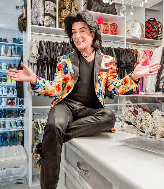David Reisman/Real Estate Millions Las Vegas celebrity Frank Marino in his new closet of his remodeled Summerlin home.
