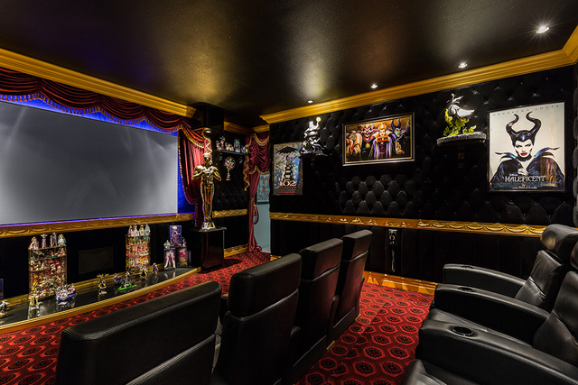 David Reisman/Real Estate Millions The home's theater is over the top.