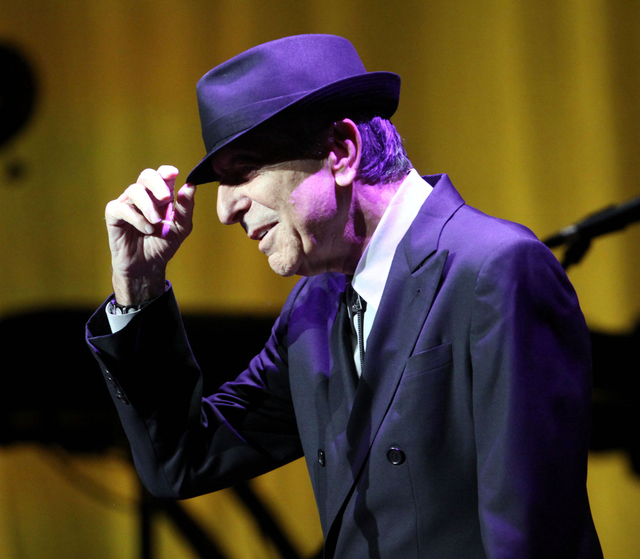 "Leonard Cohen's ""Chelsea Hotel #2"" rates as Sounding Off's favorite song -- thanks for asking. (Robb D. Cohen/The Associated Press)"