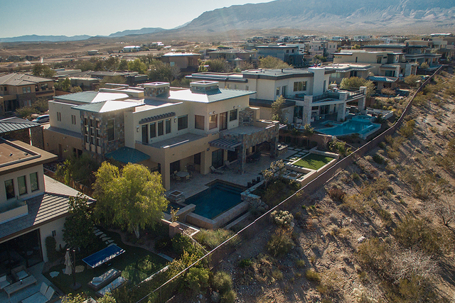 Red Rock Canyon is the backdrop for this luxury home. (Courtesy)