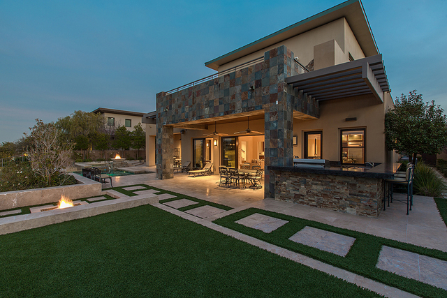 The Summerlin luxury home sits on the eighth fairway of Bear's Best Golf Course. (Courtesy)