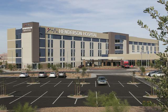 Henderson Hospital is seen Friday, Oct. 7, 2016. The hospital opened Oct. 31. (Richard Brian/Las Vegas Business Press)