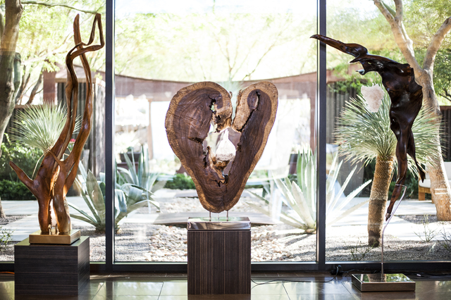 COURTESY Las Vegas artist Dorit Schwartz works in the mediums of reclaimed wood, marble, hand-carved selenite and crystals.
