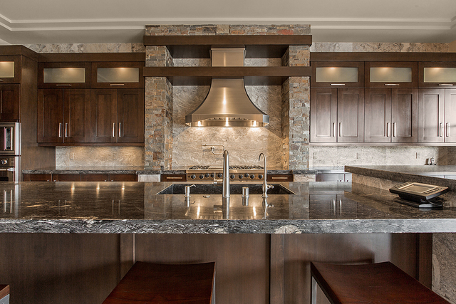 Courtesy Larry Ventimiglia, president of Lawrence Built Homes, who built the home said the kitchen's 1200 CFM stainless-steel chimney range hood, which the builder said cost $9,000.