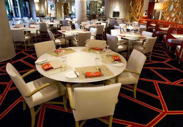 Set tables at Lakeside in Wynn Las Vegas on Friday, Nov., 11, 2016. Jeff Scheid/Las Vegas Review-Journal Follow @jeffscheid