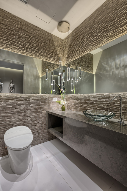 Courtesy of Rahimi Designs The bathroom of Unit No. 4102.