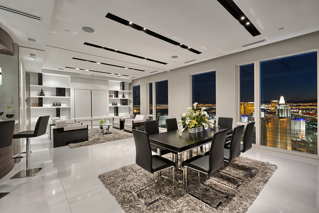 Courtesy of Rahimi Designs The penthouse was one of four that was featured in a series of private, by-invitation-only events for attendees of the 2016 International Builder's Show and the Kitche ...
