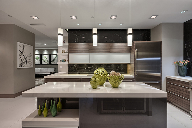 Courtesy of Rahimi Designs The penthouse kitchen.