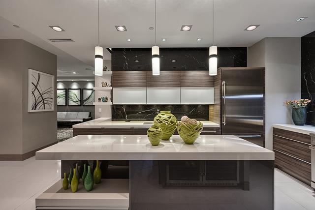 Courtesy of Rahimi Designs The penthouse kitchen.