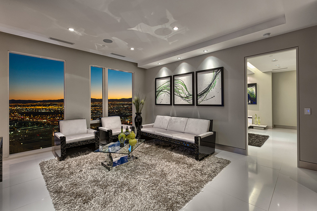 Courtesy of Rahimi Designs The penthouse has views of the Las Vegas Strip.
