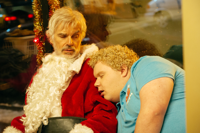 """Billy Bob Thornton, left, stars with Brett Kelly in """"Bad Santa 2,"""" a movie that is just hateful and unpleasant from beginning to end. Credit: Jan Thijs / Broad Green Pictures / Miramax"""