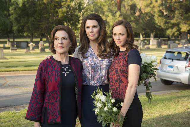 """From left, (Left to Right) Kelly Bishop, Lauren Graham and Alexis Bledel star in """"Gilmore Girls: A Year in the Life."""" (Robert Voets/Netflix)"""