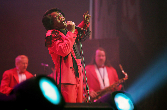 Singer James Brown performs on the opening night of the three-day Java Jazz Festival in Jakarta March 4, 2005. (Darren Whiteside /Reuters)