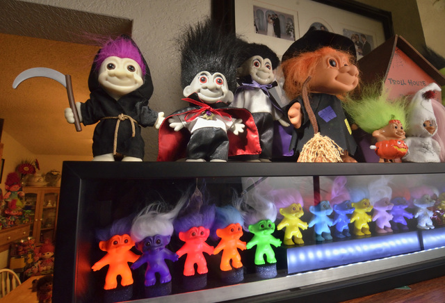 Part of Cheryl Gafforini's troll collection is shown at her home in Henderson on Tuesday, Oct. 25, 2016. Bill Hughes/Las Vegas Review-Journal