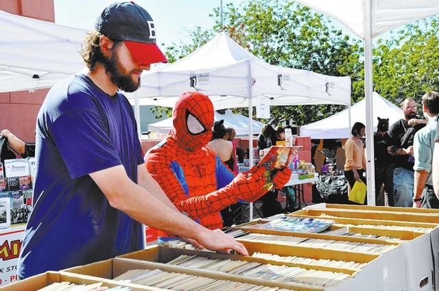 Attendees browse comic books during a previous Vegas Valley Comic Book Festival. This year's event is planned from 9:30 a.m. to 4:30 p.m. Nov. 5 at the Clark County Library, 1401 E. Flamingo Road. ...