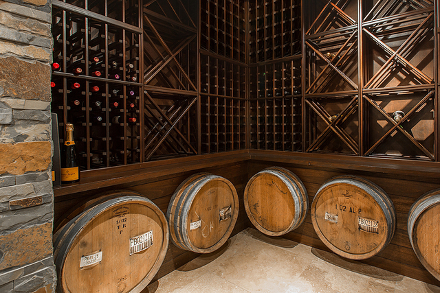 The Summerlin golf-course home has a wine cellar. (Courtesy)