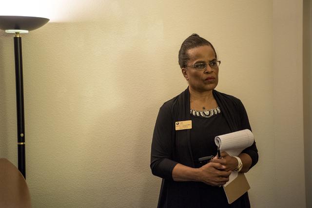Juanita Chrysanthou, vice president of Student Affairs, speaks during an interview at the CSN Charleston Campus in Las Vegas on Wednesday, Nov. 2, 2016. (Joshua Dahl/Las Vegas Review-Journal)