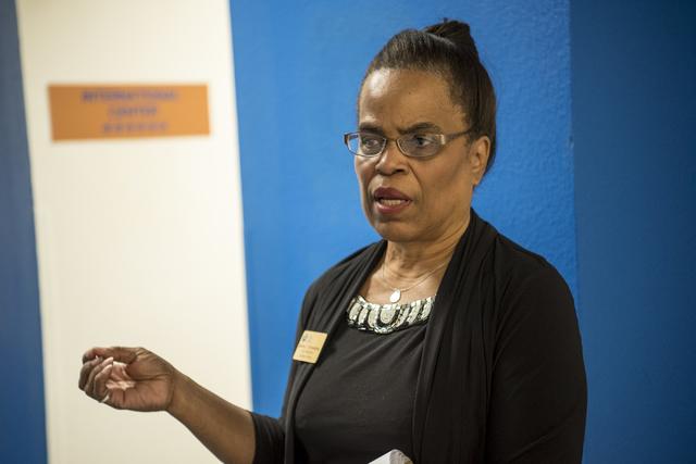 Juanita Chrysanthou, vice president of Student Affairs, speaks during an interview at the CSN Charleston Campus in Las Vegas on Wedneday, Nov. 2, 2016. (Joshua Dahl/Las Vegas Review-Journal)