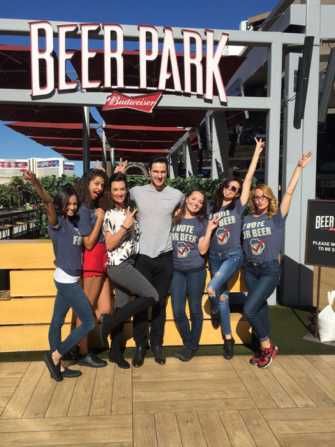 Daniel Maguire with Beer Park staff. (Courtesy)