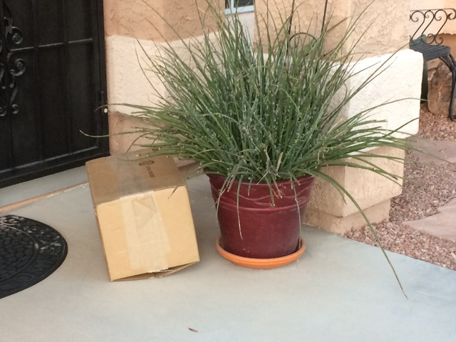 A package is seen Nov. 21 on the doorstep in a Summerlin-area home. At holiday time, thieves watch homes for unattended deliveries. The U.S. Postal Service and package-delivery companies have stra ...