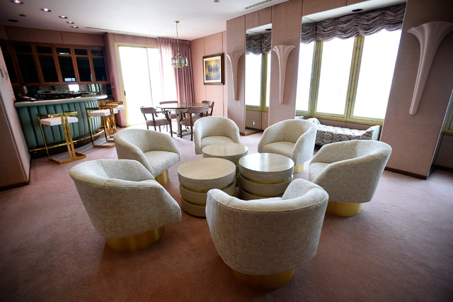 The Jackie Gaughan Suite at the El Cortez, Thursday, Oct. 27, 2016, in Las Vegas. The family-owned downtown hotel-casino will be celebrating its 75th anniversary after it originally opened in 1941 ...