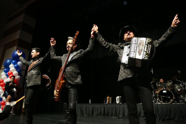 Los Tigres Del Norte perform during the Nevada State Democratic Party at Aria Hotel-Casino in Las Vegas, Tuesday, Nov. 8, 2016. Erik Verduzco/Las Vegas Review-Journal Follow @Erik_Verduzco