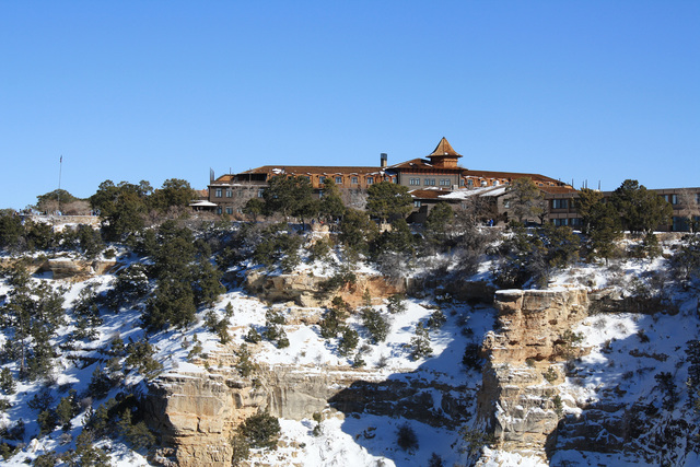 The El Tovar Hotel sits directly on the South Rim of the Grand Canyon. The paved and flat Rim Trail passes it and makes a wonderful place to take a winter hike. (Deborah Wall/Special to View)