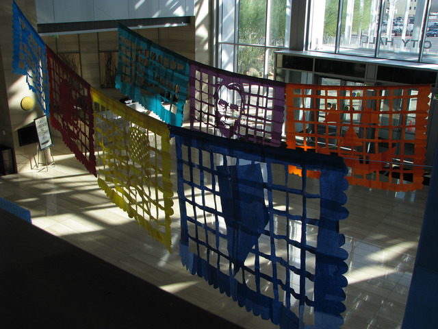 """Justin Favela's installation """"Patrimonio"""" is set to be on display through Dec. 15 at Las Vegas City Hall's Grand Gallery. F. Andrew Taylior/View"""