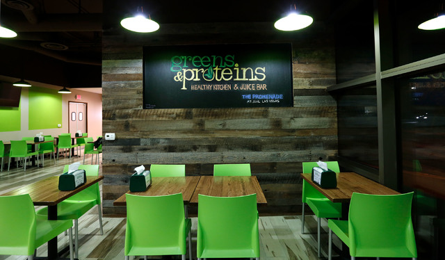 The interior of Greens & Proteins at The Juhl is shown in downtown Las Vegas, Monday, Nov. 28, 2016. Chitose Suzuki/Las Vegas Review-Journal