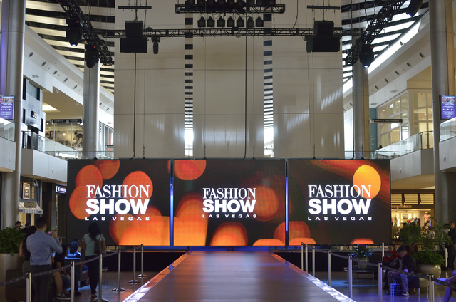 A New Digital Display Used For Fashion Shows And Promotions Is Shown In The Main Hall