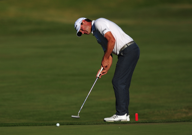 PGA golfer Lucas Glover putts on the 18h hole during the Shriners Hospitals for Children Open at TPC Summerlin in Las Vegas Saturday, Nov. 5, 2016. Josh Holmberg/Las Vegas Review-Journal