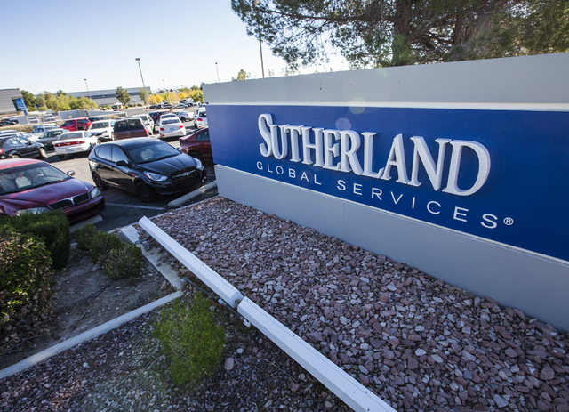 Sutherland Global Services, 8725 W. Sahara Ave., the site of the former Citibank building, is seen on Thursday, Nov. 17, 2016, the same day the Governor's Office of Economic Developmentl approve ...