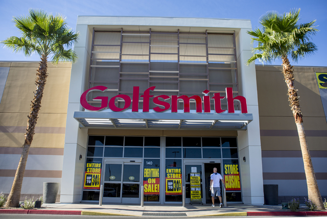 Closing signs hang on the windows of Golfsmith located in downtown Summerlin, 2315 Summa Dr #1b, Wednesday, Nov. 9, 2016, in Las Vegas. Elizabeth Page Brumley/Las Vegas Review-Journal Follow @ELIP ...