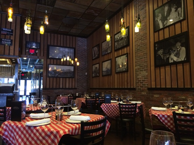 The interior of Grimaldi's at Boca Park harkens back to Brooklyn, in a nod to the type of pizza it makes in its brick ovens. Jan Hogan/View