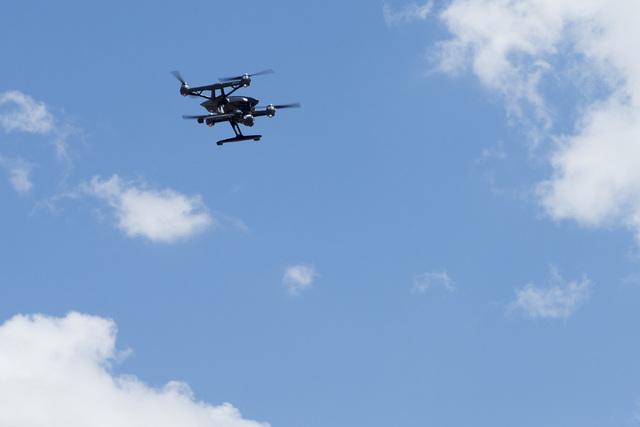 In honor of International Drone Day, Aerodrome held a drone flying day on May 7, 2016, in Boulder City, Nev. (Bridget Bennett/Las Vegas Review-Journal) follow @bridgetkbennett