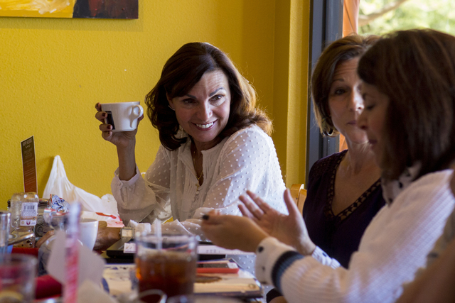 Adela Smith, a member of a Henderson Giving Circle, which meets monthly, talks about their monthly donation over lunch at Pasta Shop in Henderson, Friday, Nov. 18, 2016. Elizabeth Page Brumley/Las ...