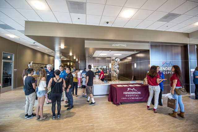 The lobby of Henderson Hospital in Henderson is seen during a public open house on Saturday, Oct. 22, 2016. (Joshua Dahl/Las Vegas Review-Journal)