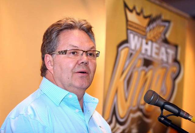Kelly McCrimmon from his August press conference when he announced he was going to Las Vegas. (Brandon Wheat Kings)