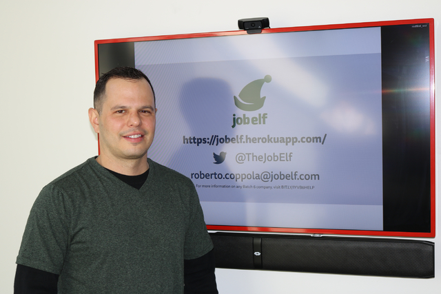Roberto Coppola, a long-time Las Vegas entrepreneur, founded a web platform called jobelf, currently aimed at helping companies recruit hospitality workers. Coppola pitched to investors at RedFlin ...