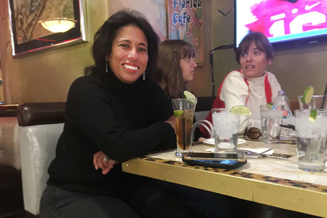 Cuban Heritage Foundation founder Maria T. Caminero, left, poses for a photo at the Florida Cafe Cuban Bar & Grill inside The Shalimar Hotel on Saturday, Nov. 26, 2016. (Pashtana Usufzy/Las Ve ...